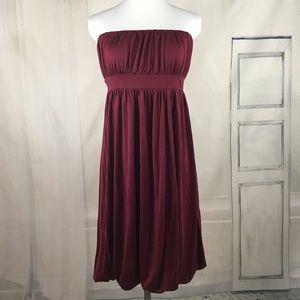 Banana Republic Silk Strapless Dress Size 12